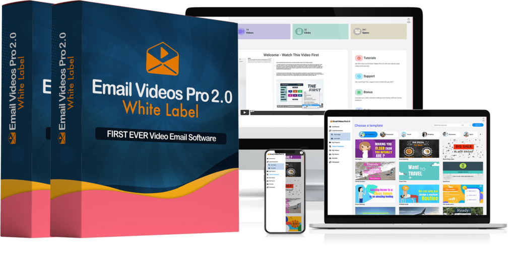 Email Videos Pro 2.0 White Label Software By Mario Brown Review OTO OTOs Upsell